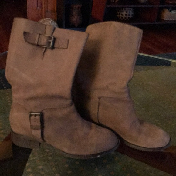 Cole Haan Shoes - Taupe Cole Haan moto boots